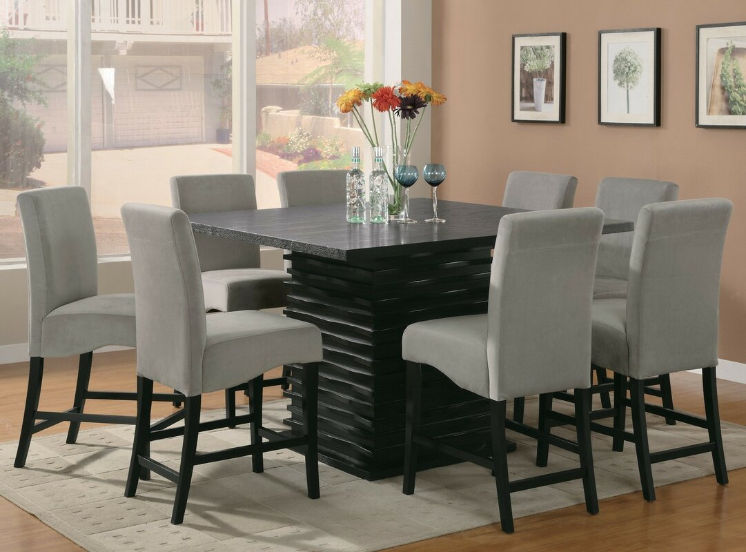 infini furnishings jordan 9 piece counter height dining set