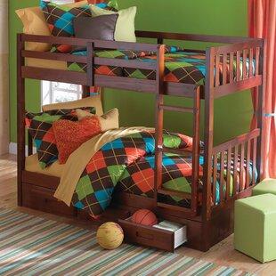 Best Reviews Elisa Twin over Twin Slat Bunk Bed ByHarriet Bee