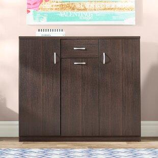 Wood 30 Pair Shoe Storage Cabinet