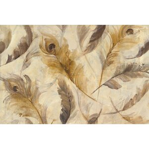 Feather Toss Painting Print on Wrapped Canvas by Bungalow Rose