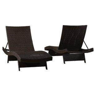 Gadbois Reclining Chaise Lounge (Set Of 2)