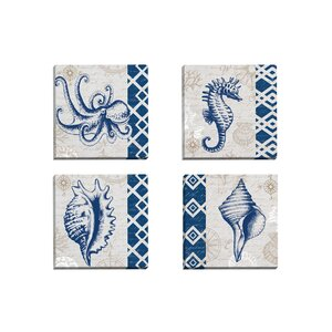 Tahiti Octopus by Elena Vladykina 4 Piece Graphic Art on Wrapped Canvas Set by Portfolio Canvas Decor