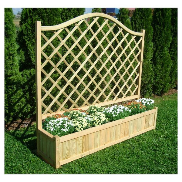 Zest 4 leisure planter box with trellis reviews for Wayfair garden box
