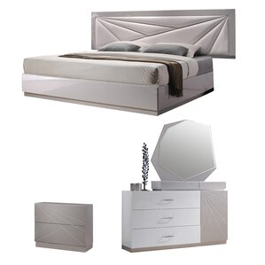 White Lacquer Bedroom Furniture Wayfair