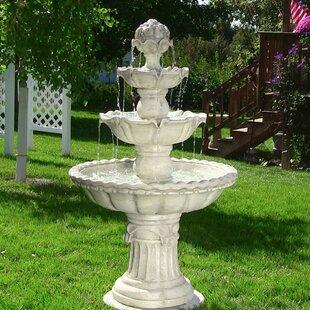 Lovely Fiberglass 4 Tier Electric Water Fountain