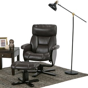 Whitman Manual Swivel Recliner With Ottoman Simpli Home
