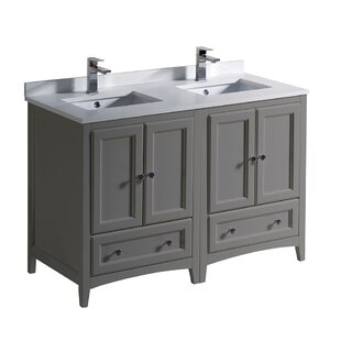 Best Reviews Oxford 48 Double Bathroom Vanity Set ByFresca