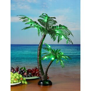 Outdoor christmas decorations youll love wayfair led 25 light twins palm tree mozeypictures Gallery