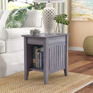 Glenni Rectangular End Table with Storage by Highland Dunes