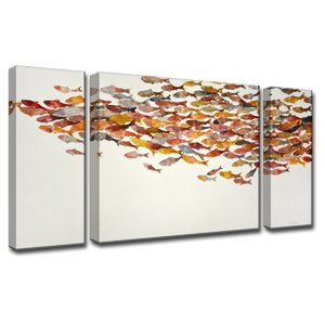 'Heatwave' by Norman Wyatt Jr. 3 Piece Painting Print on Wrapped Canvas Set by Ready2hangart