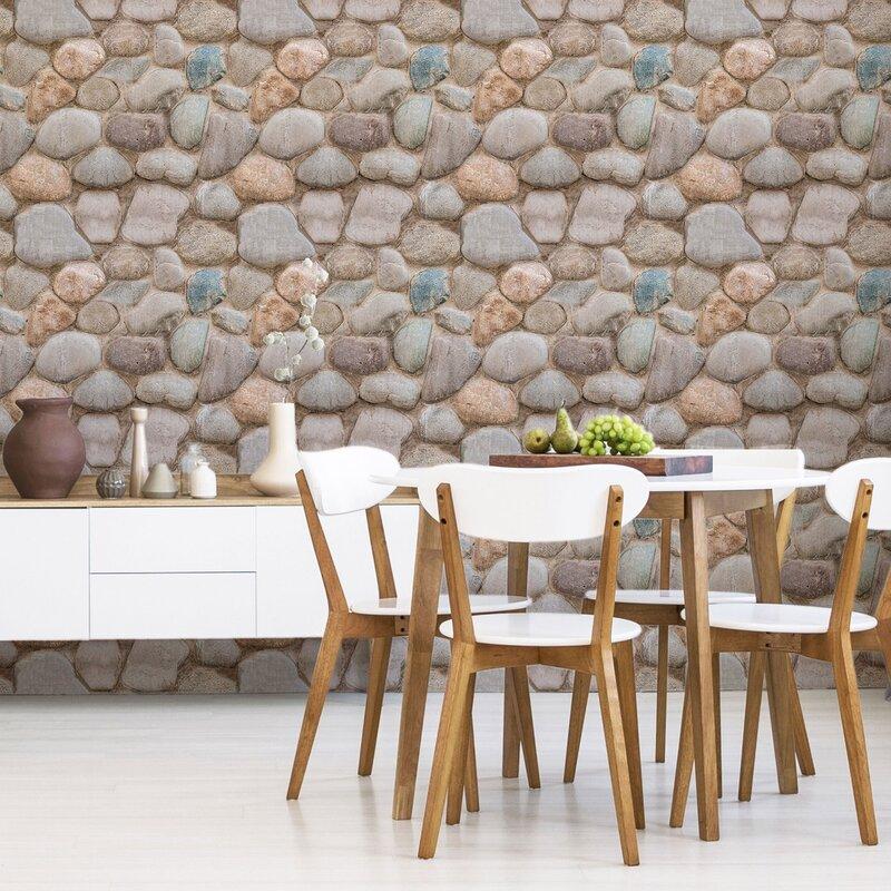WallsByMe Textured Peel and Stick Wallpaper Tile | Wayfair