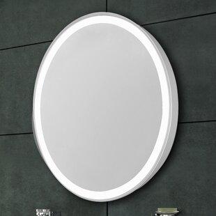 Compare prices Edge Electric Bathroom/Vanity Mirror ByLatitude Run
