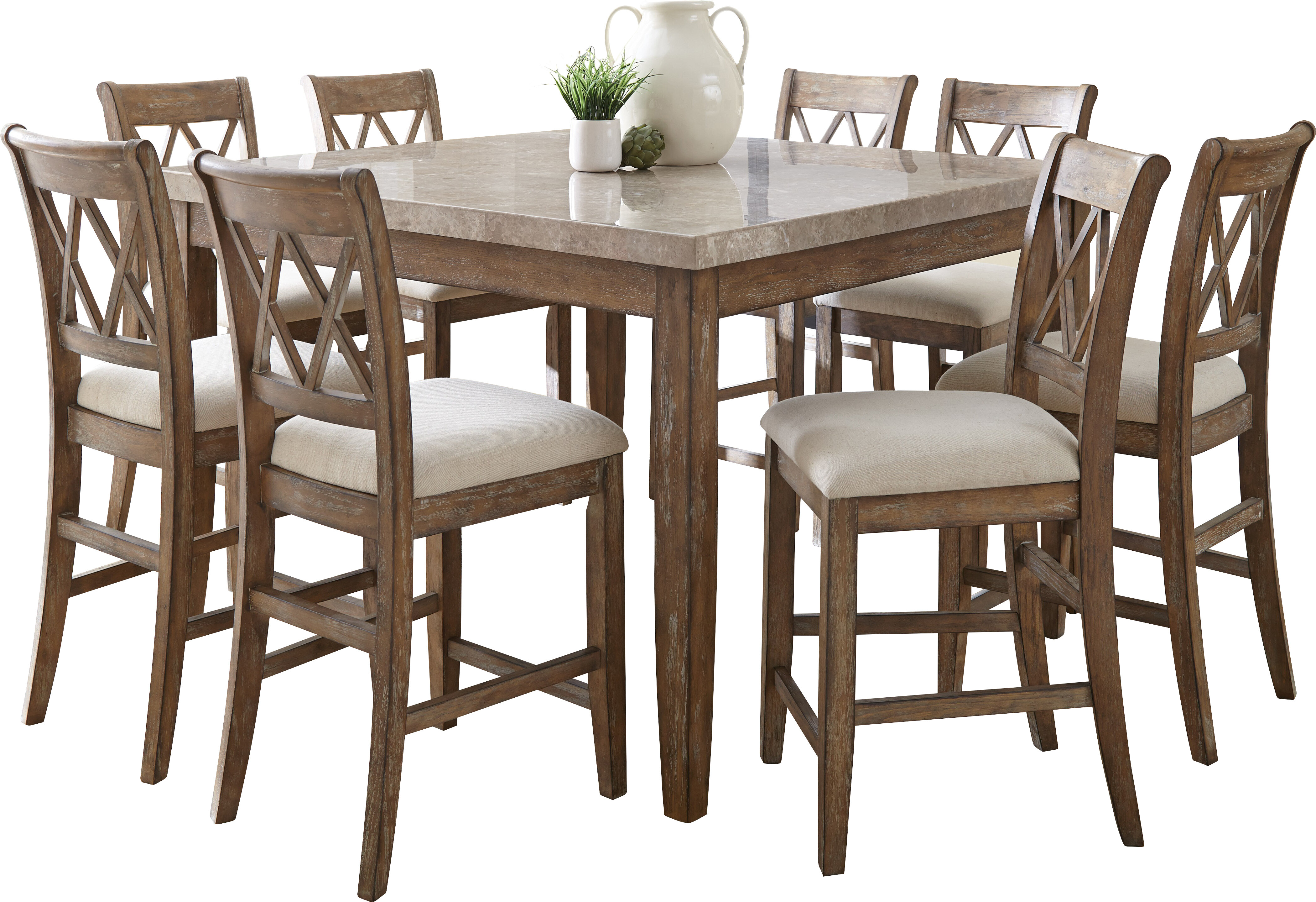 dining garden home lumina height piece set product america table tables of furniture up light counter