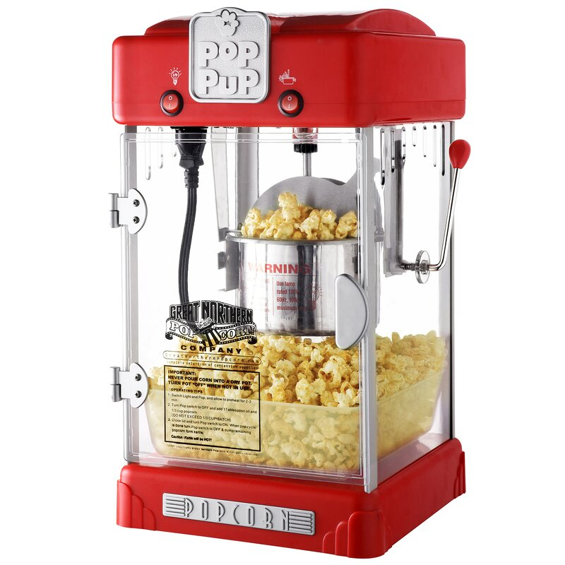 Charmant 2.5 Oz. Pop Pup Retro Popcorn Machine