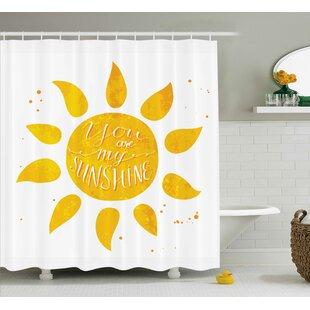 Delicieux Sunshine Quotes Decor Shower Curtain
