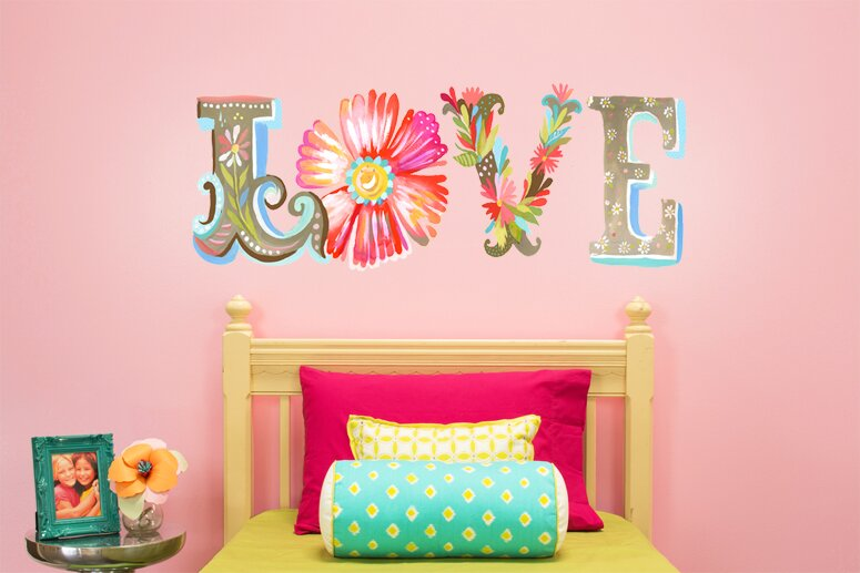 Floral Love Wall Decal