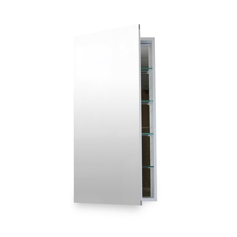Contemporary 24 X 36 Surface Mount Or Recessed Medicine Cabinet With 5 Adjule Shelves