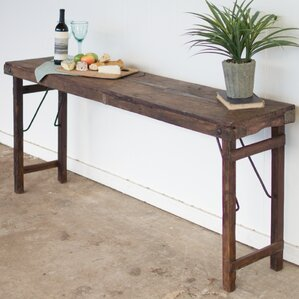 Jamie Antique Wooden Folding Console Table by Gracie Oaks