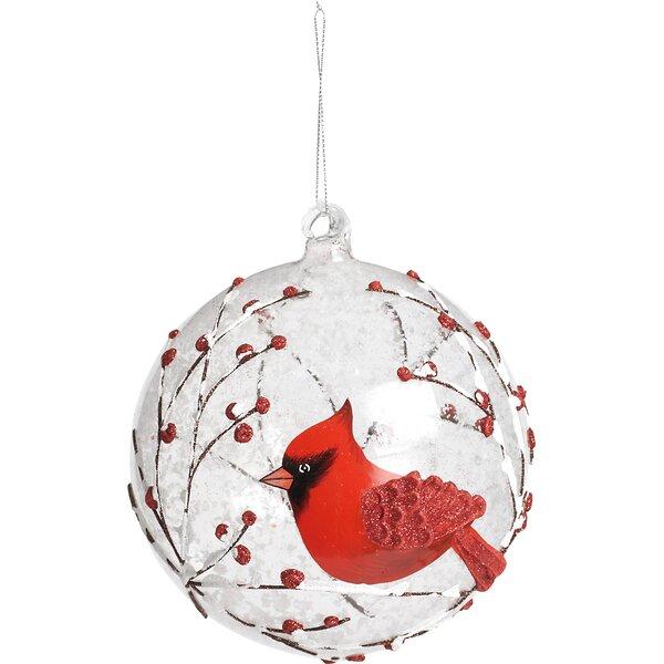 Jumbo Cardinal Glass Ball Ornament   Birch Lane