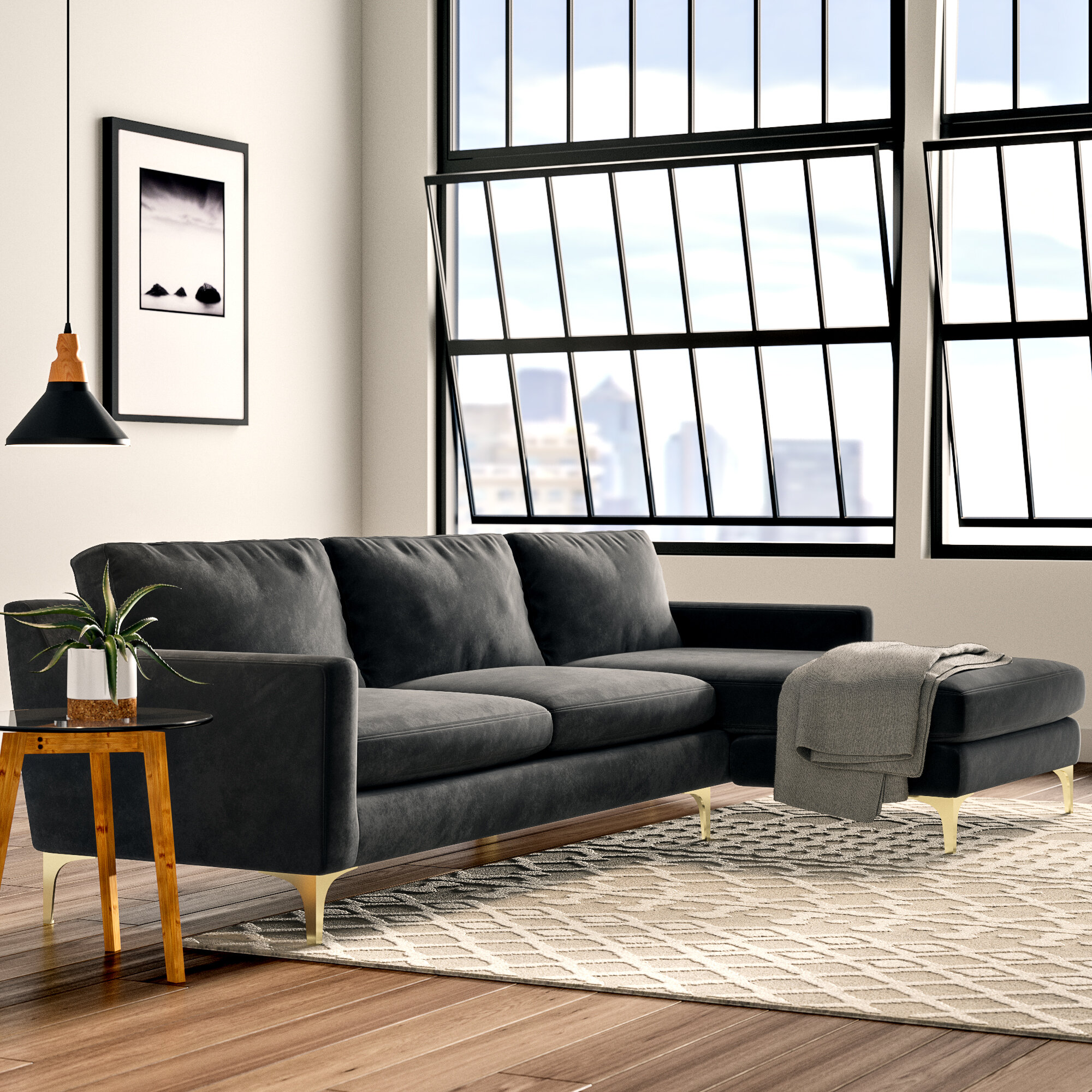 Wondrous Aiden Sectional Gmtry Best Dining Table And Chair Ideas Images Gmtryco