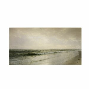 'Quiet Seascape 1883' by William Richards Painting Print on Canvas by Trademark Fine Art