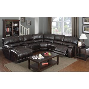 Christopher Reclining Sectional Collection  sc 1 st  Wayfair : black leather reclining sectional - Sectionals, Sofas & Couches