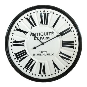 Black And White Wall Clock french country wall clocks you'll love | wayfair