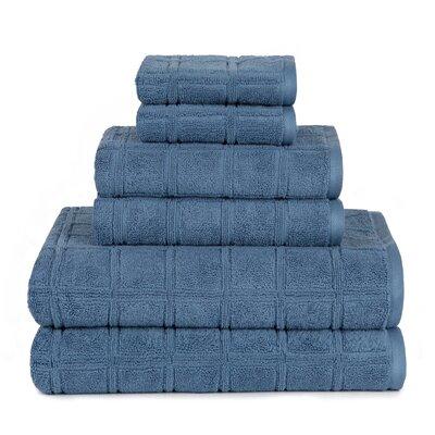 Boehm 100% Cotton Manor Jackson 6 Piece Bath Towel Set Breakwater Bay Color: Coronet
