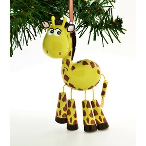Giraffe Personalized Christmas Ornament with Dangle Leg Hanging Figurine