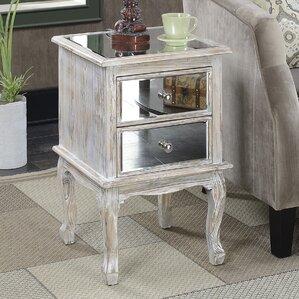 Mariah Queen Anne Mirrored End Table b..