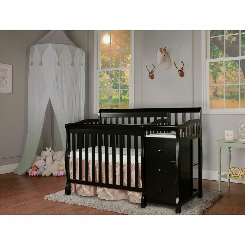 Jayden 4 In 1 Convertible Mini Crib And Changer Combo