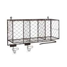 Multipurpose Metal Shelf with Hooks by Cole & Grey
