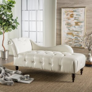 hurd leather tufted chaise lounge