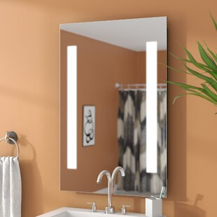 Online Reviews Bennum LED Lighted Accent Mirror ByWade Logan