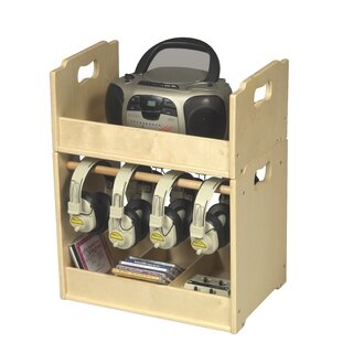 Stacking Multimedia Tabletop Storage by Guidecraft