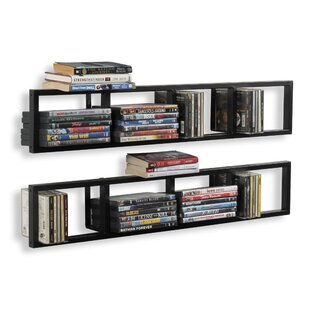Multimedia Wall Mounted Media Storage Set of 2