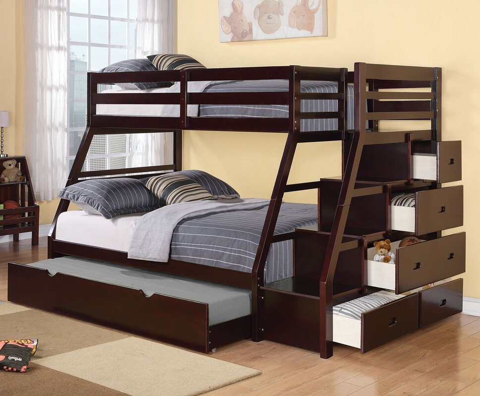 Bunkbed Pictures viv + rae reece twin over full bunk bed with storage ladder and
