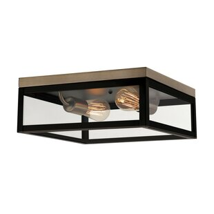 Savings Hering 2-Light Flush Mount By Latitude Run