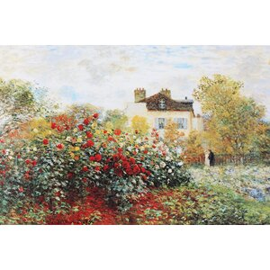 'Garden' by Claude Monet Graphic Art on Wrapped Canvas by Three Posts