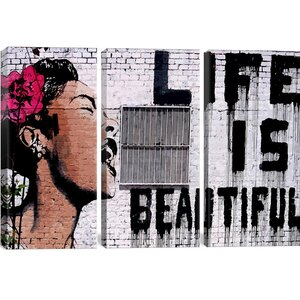 'Life is Beautiful' Graphic Art Print by East Urban Home