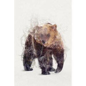 The Bear Graphic Art on Wrapped Canvas by East Urban Home