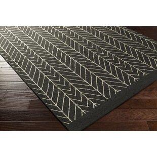 Best Esopus Hand-Woven Neutral/Black Area Rug ByGeorge Oliver