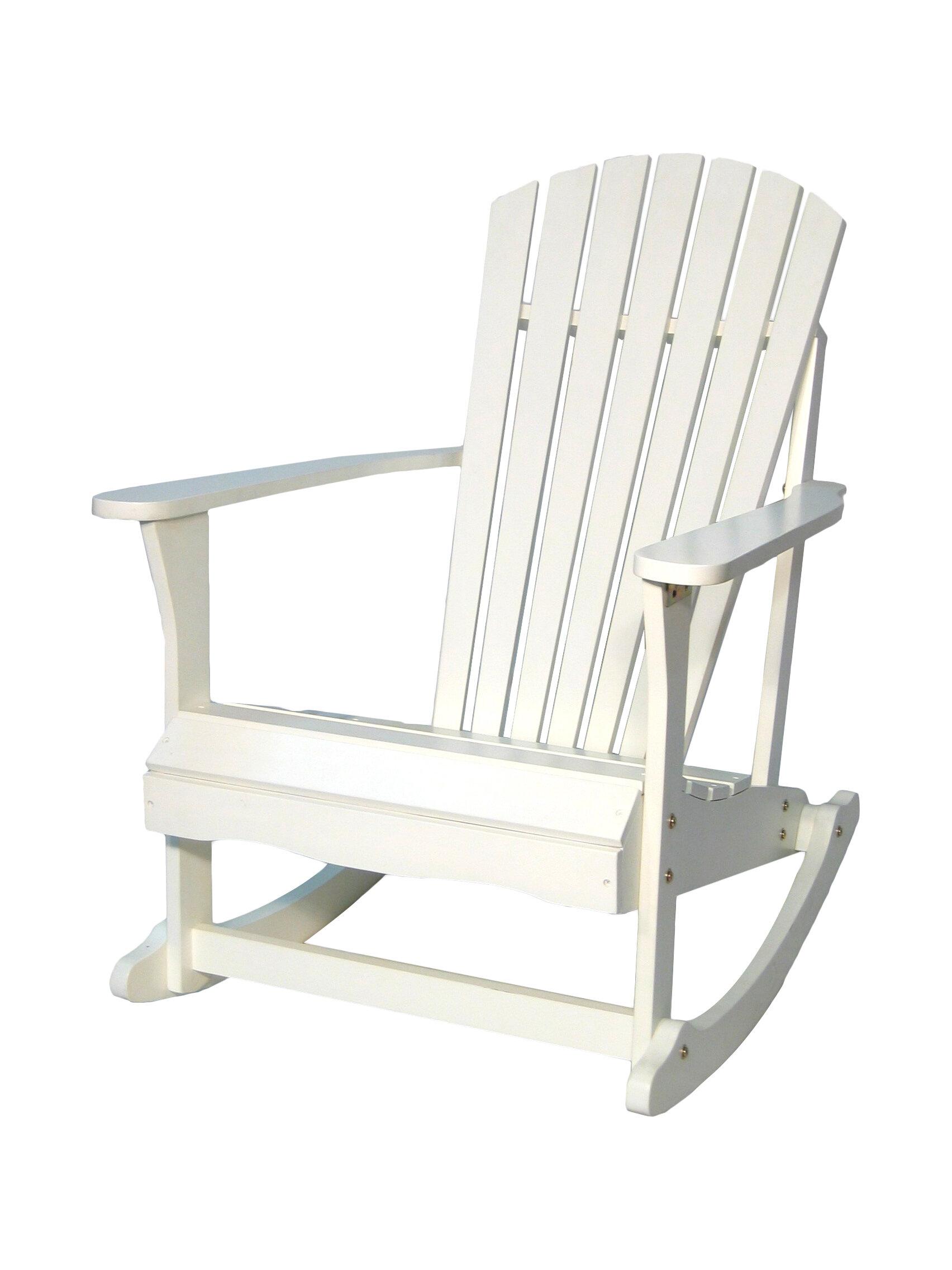 Highland Dunes Hinman Porch Solid Wood Rocking Adirondack Chair U0026 Reviews |  Wayfair
