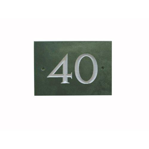 25|4 cm Wandbefestigte Hausnummer Odacia Garten Living Farbe: Grün| Number: 40 | Lampen > Aussenlampen > Hausnummern | Garten Living