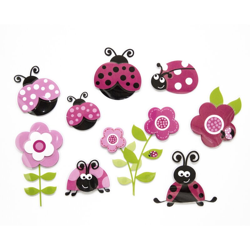 Home Decor Line Pink Ladybugs Wall Decal