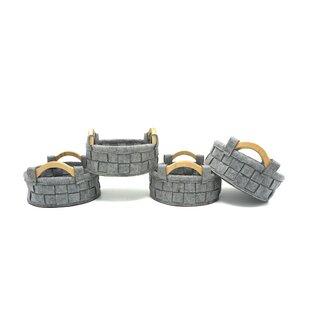 Handle Felt Round Fabric Basket (Set of 4) by Gracie Oaks