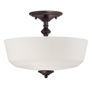 Find the perfect Genevieve 2-Light Semi-Flush Mount By Charlton Home