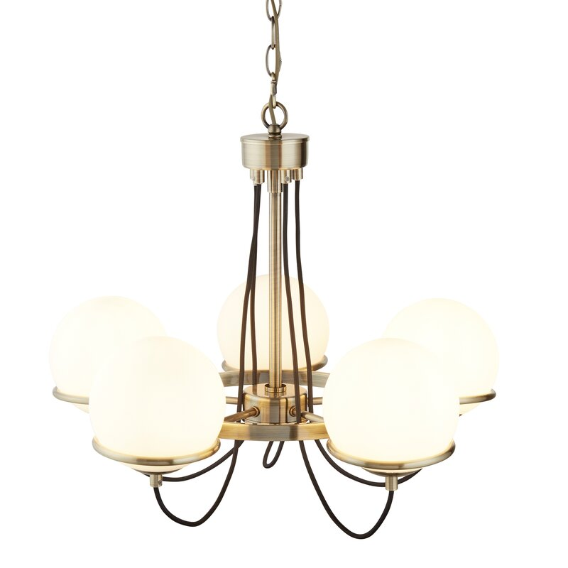 Kronleuchter Mit Lampenschirmen Moderne Kronlechter Hier: ScanMod Design Kronleuchter Mit Lampenschirmen 5-flammig