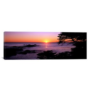Panoramic Sunset over the Sea, Point Lobos State Reserve, Carmel, Monterey County, California Photographic Print on W... by iCanvas