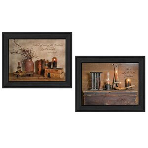 'Candles' 2 Piece Framed Graphic Art Print Set by Trendy Decor 4U